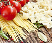Italian Pasta with Cherry Tomatoes and SPices — Stock Photo
