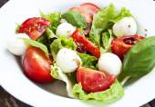 Fresh Mozzarella, Basil, and Cherry Tomatoes Salad — Stock Photo