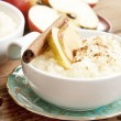 Rice Pudding with Apple and Cinnamon — Stock Photo #56005741
