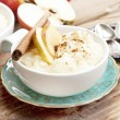 Rice Pudding with Apple and Cinnamon — Stock Photo #56005769