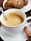 Coffee Cup.Classic Cappuccino — Stock Photo