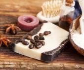 Organic Coffee Homemade Soap — Stock Photo