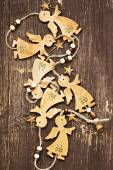 Wooden Angels Vintage Christmas Decoration  — Stock Photo