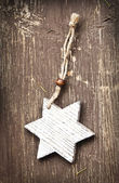 Vintage Wooden Star Christmas Decoration — Foto de Stock