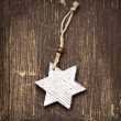 Vintage Wooden Star Christmas Decoration — Stock Photo #58427815