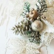 Silver Decoration for Christmas Tree — Stock Photo #59810093