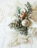 Silver Decoration for Christmas Tree — Stok fotoğraf