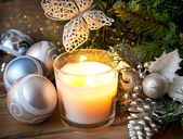 Magic Christmas Candle Light — Stockfoto