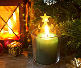 Magic Festive Christmas Candle Light  — Stockfoto