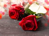 Romantic Red Roses — Stock Photo
