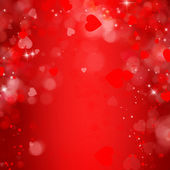 Abstract Hearts Background, St.Valentin's Day Concept — Stock Photo