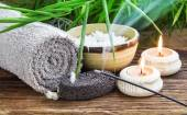 Spa Setting with Burning Incense — Stock Photo