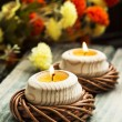 Spa Floating Burning Candles — Stock Photo #68231873