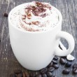 Cappuccino Cup with Creamy Froth and Cocoa Powder — Stock Photo #70818361