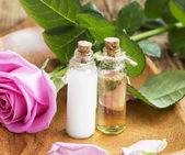 Body-care Oil and Lotion with Rose Extract — Stok fotoğraf