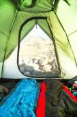 Mountain Camping Tent Inside View — Stock Photo