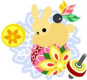 The Mini Animal  -Rabbit- — Wektor stockowy