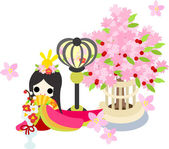 Girls Festival in Japan -The Empress- — Stock Vector