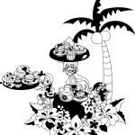 Hawaiian pancake cafe-2 — Stock Vector #65250021