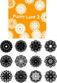 Funny lace silhouette — Stock vektor