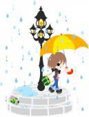 Rain season — Stock Vector