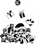 So many Christmas presents — Stock Vector