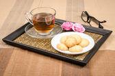 Kurabiye ve çay — Stok fotoğraf