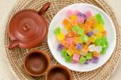 Crispy jelly Thai dessert — Stock Photo
