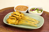 Grilled Pork Satay — Stock Photo