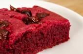 Red velvet brownie — Stock Photo