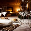 Table setting for celebration — Stock Photo #52128155