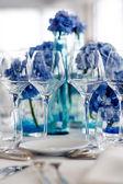 Wedding table setting — Stock Photo
