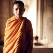An unidentified monk poses for a photo — Foto de Stock