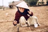 Asian old farmer — Stockfoto