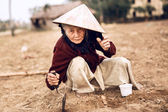 Asian old farmer — Stock Photo