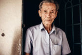 89-year-old Vietnamese man  in the Mekong delta near Vinh Long — Stock Photo