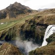 Famous Skogafoss waterfall in Iceland at dusk — 图库照片
