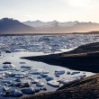 View of the glacier lagoon, Jokulsarlon, Iceland at sunset. — Zdjęcie stockowe #53883587