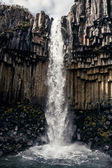 Svartifoss, Black Waterfall — Stock Photo