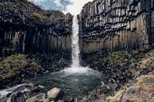 Svartifoss, Black Waterfall — Foto Stock