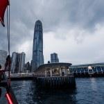 Hong Kong harbor and skyscrapers — Stock Photo #65047125