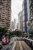 People crossing street at Hong Kong — Stock Photo