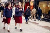 People on street in Dublin — Stock Photo