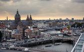 アムステルダムの航空写真 — ストック写真