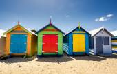 Brighton Bay Beachhouses — Stock Photo