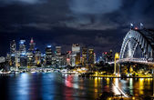 Sydney harbor and downtown buildings — Stock Photo