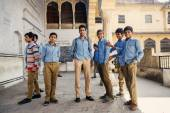 Group of Indian students in Jaipur — Stock Photo