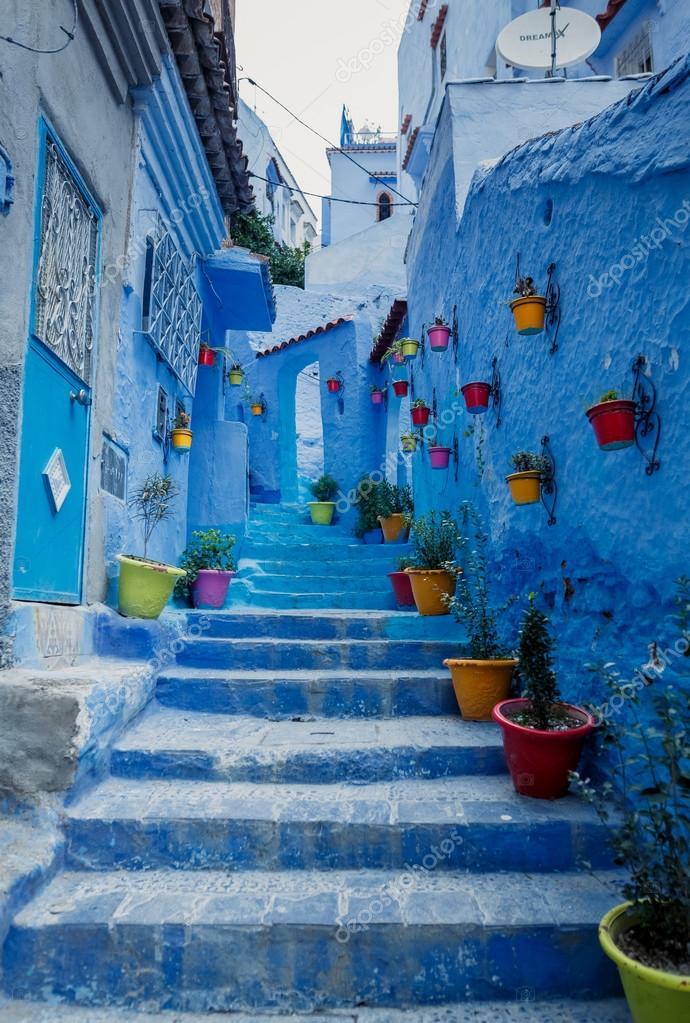 Chaouen pueblo azul en marruecos foto de stock - Fotos marrakech marruecos ...
