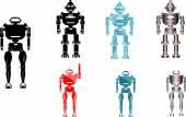 Robots set — Stock Vector