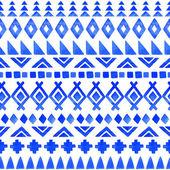 Sömlös aztec mönster. — Stockvektor